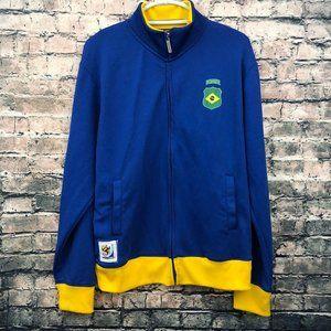 Vintage Zip up Fifa Brasil Jacket Mens Size Medium